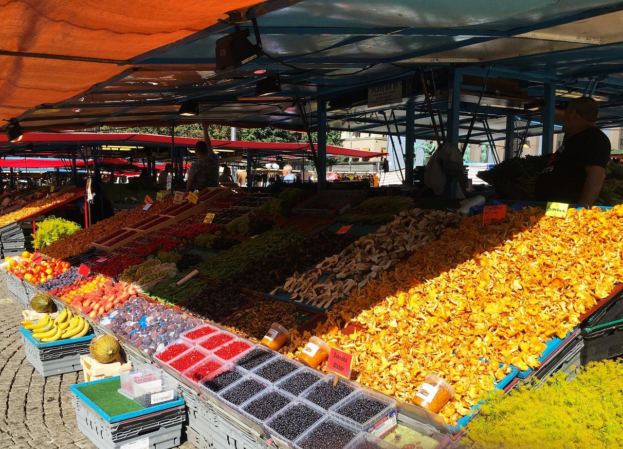 ストックホルムのHötorgetの市場